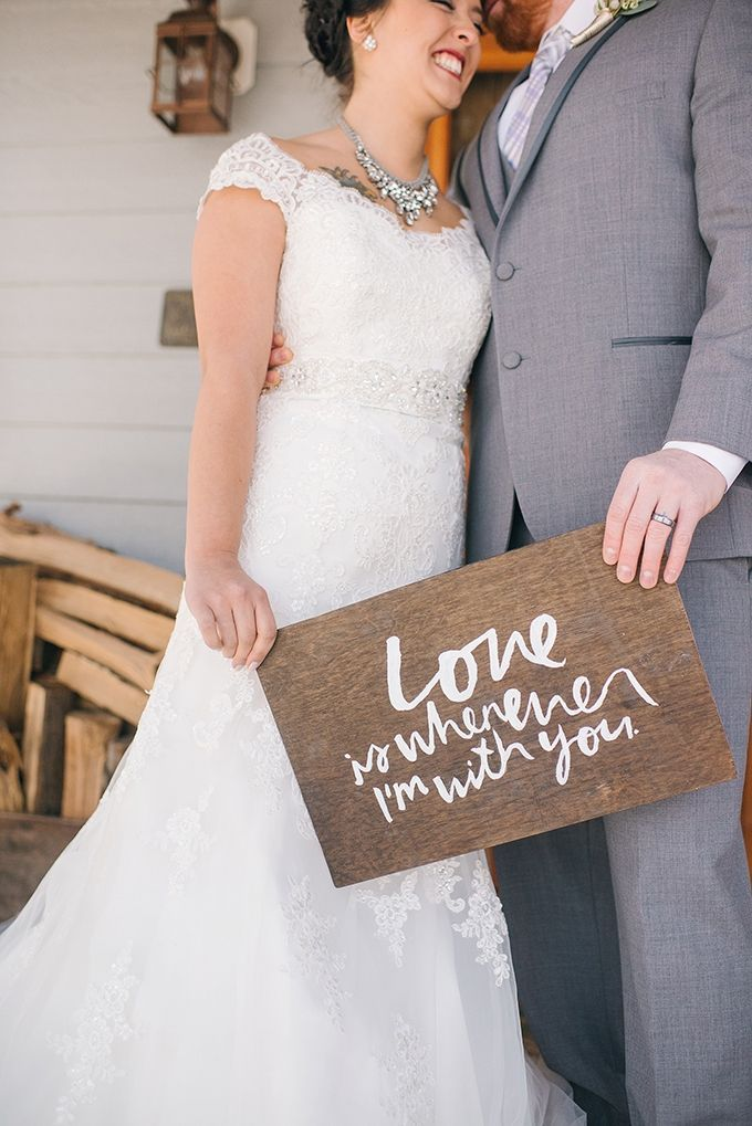Wedding day signage // love is whenever I'm with you // Amanda Adams Photography // Glamour & Grace Blog