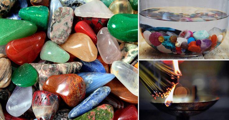 Cómo purificar, activar y limpiar tus piedras energéticas