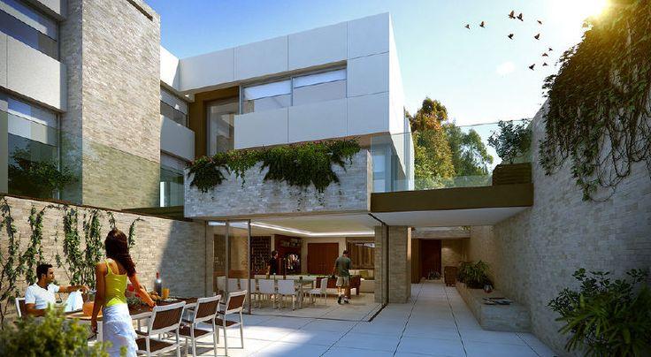 Casas haus edificaciones de casas minimalistas uruguay - Patio ingles ...