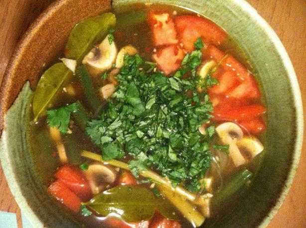 A delicious spicy, vegetarian soup that will clear out even the most congested of sinuses.