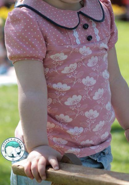 4406747961d9f0 Du bist auf der Suche nach einem süßen Mädchen Shirt mit Bubikragen? Das  Schnittmuster Grete von Konfetti Patterns ist genau dies: ein ausführlich  erklärtes ...