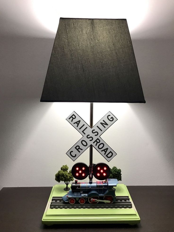 Steam Engine Lamp Locomotive Train Kids Night Light Ebay