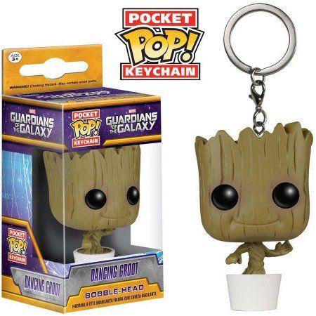 Funko Pocket POP! Marvel Dancing Baby Groot Keychain, Infant Unisex, Brown