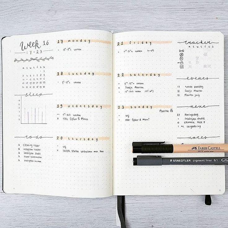 115 vind-ik-leuks, 9 reacties - Joos | bullet journal newbie (@bu.joos) op Instagram: 'A P R I L // Weekly I hope you are enjoying this Sunday. I really like this layout, definitely…'