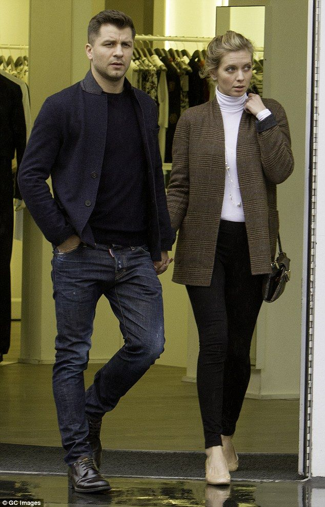 Keep dancing: Strictly Come Dancing couple Rachel Riley and dancer beau Pasha Kovalev look as strong as ever as they headed for a day of shopping in London on Monday