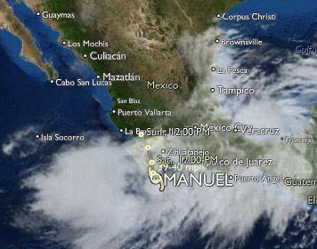 Clima en el Pacífico: Tormenta tropical Manuel se aleja lentamente de la costa de Acapulco