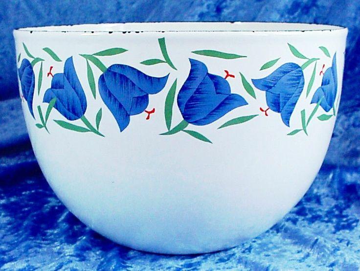 Rare Pattern Vintage Mid Century FINEL ARABIA KAJ FRANCK Enamel Bowl Finland NR