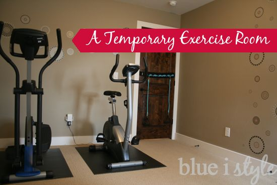 Creating a stylish exercise room on a minimal budget. Great ideas, especially when the room will later be converted to serve a different purpose (such as a kids room for a growing family).