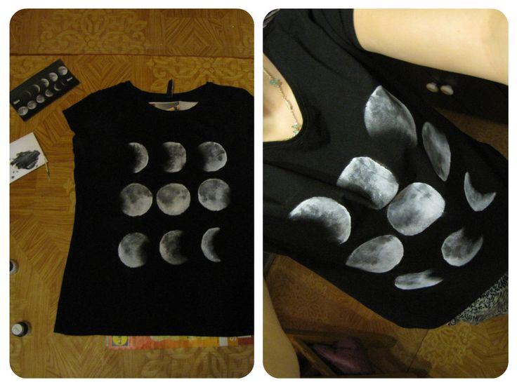 Tričko- fáze měsíce <3 | The-Anett