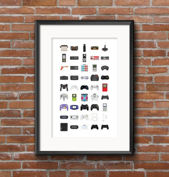 Abridged History of Video Game controllers by GrantFisherDesign