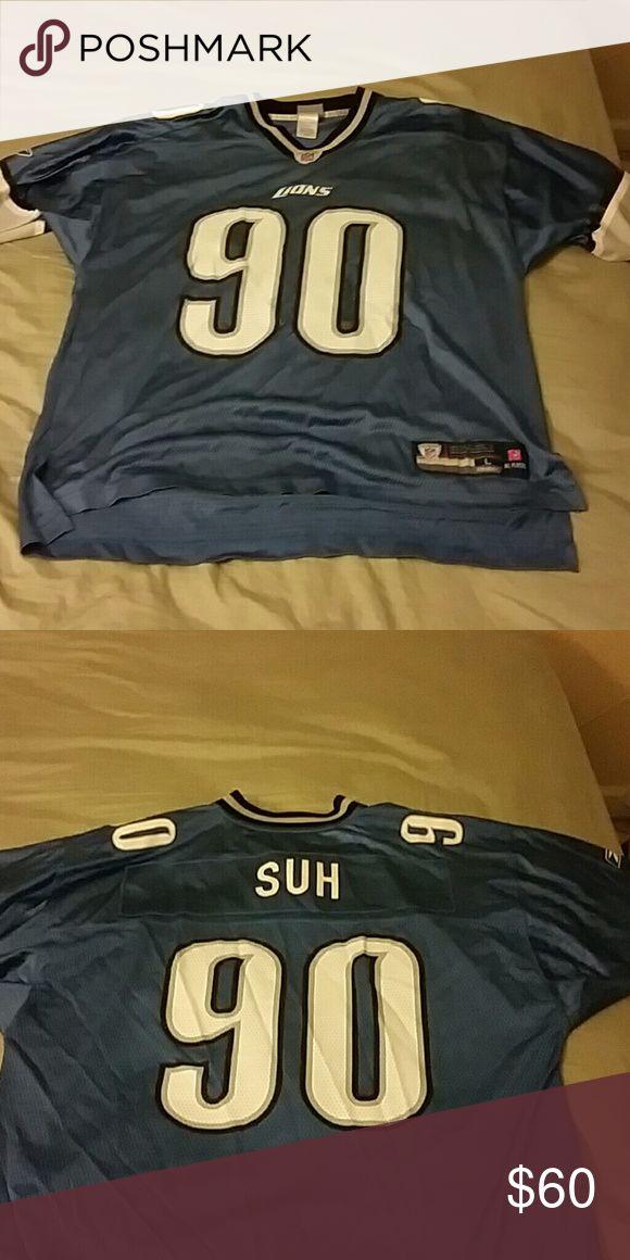 Ndamukong Suh Detroit Lions Reebok Jersey Condition 9/10 Reebok Shirts Tees - Short Sleeve