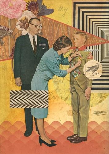 I love this modern take on a vintage illustration