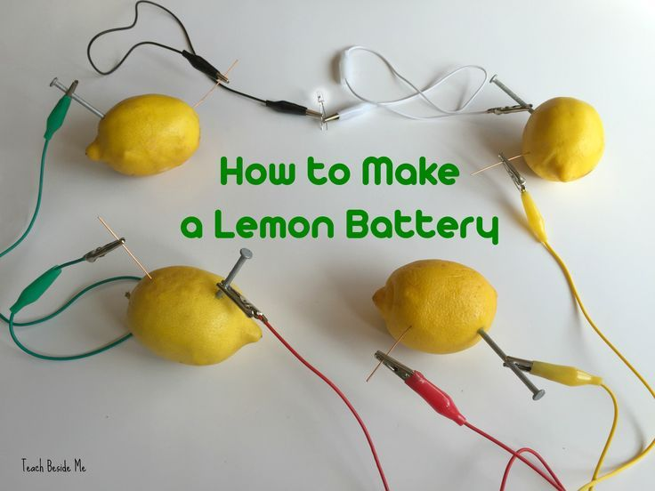 How to make a lemon battery- STEM science experiment