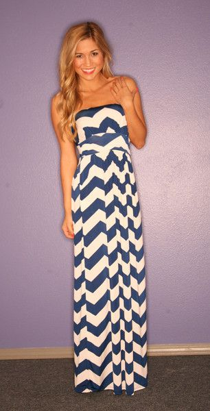 Blue and white maxi