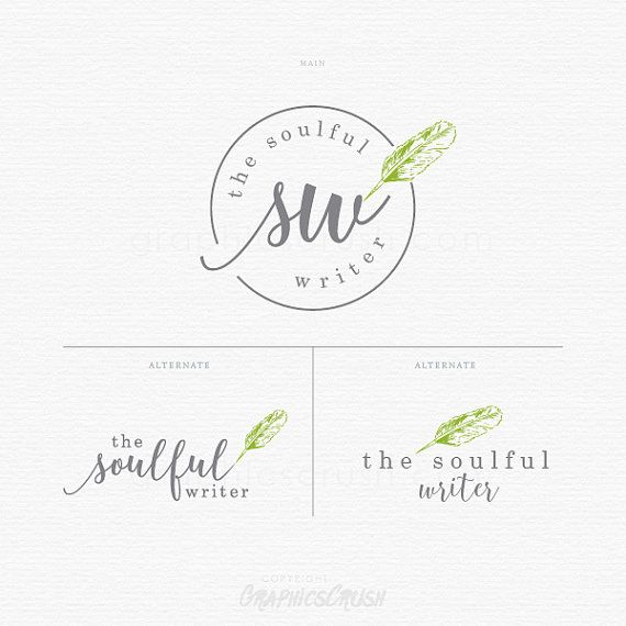 Blogger Logo - Blog Logo - Writer Logo - Blogger Writer Logo - Watermark Logo - Stamp Logo