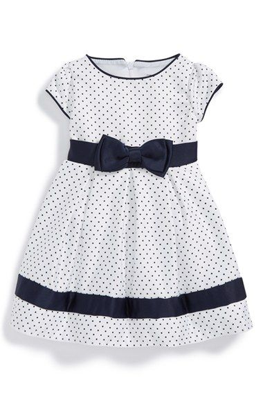 Dorissa Short Sleeve Pin Dot Dress (Baby Girls) available at #Nordstrom