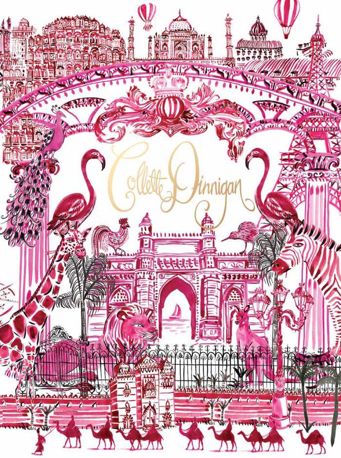 Ariellegamble's design using Irene Fuga's illustrations for the cover of Collette Dinnigan's Obsessive Creative special edition.