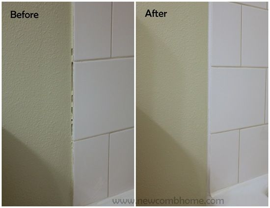 metal edge finishing for tile | Its easy, and much less expensive than purchasing trim tile.