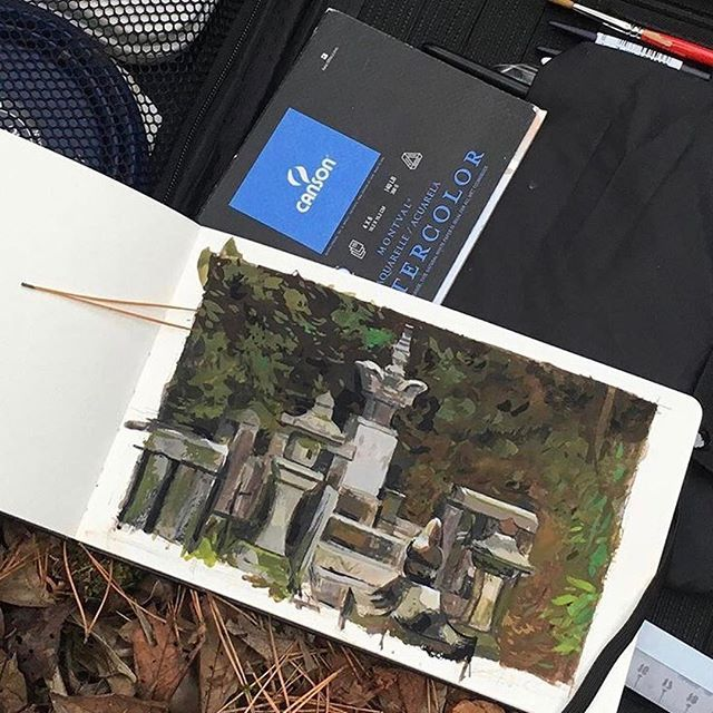 Checkout this amazing gouache piece from @petersakievich!⠀  ⠀  Make more art #etchrartwork to share with us!⠀  ⠀  #gouache #gouachepainting #kyoto #drawing #art #ink #illustration #dailyart #sketch #sketching #sketchbook #nomadartsatchel #artists #pleinair