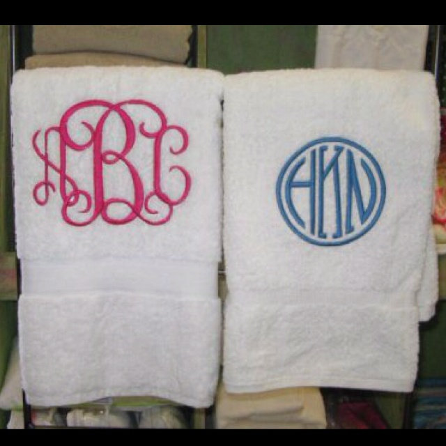 Best Dry Off With A Personalized Towel Images On Pinterest - Monogrammed hand towels for small bathroom ideas