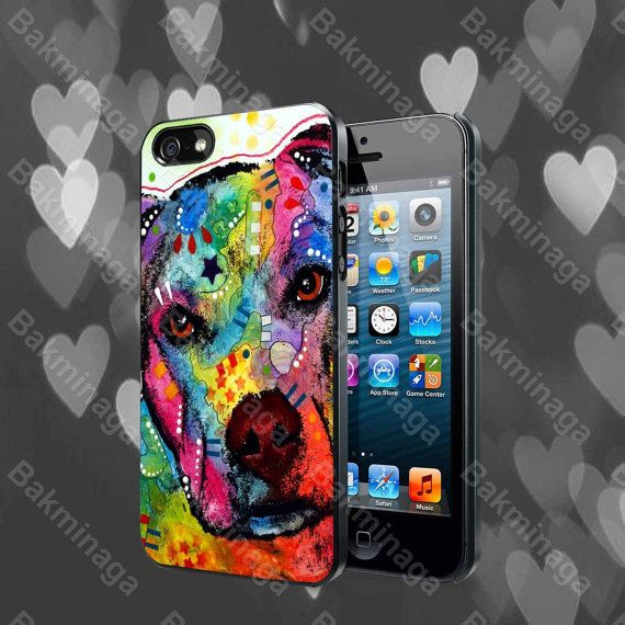 Pitbull Love Painting case for iPhone 4 4S 5 5S 5C by ...