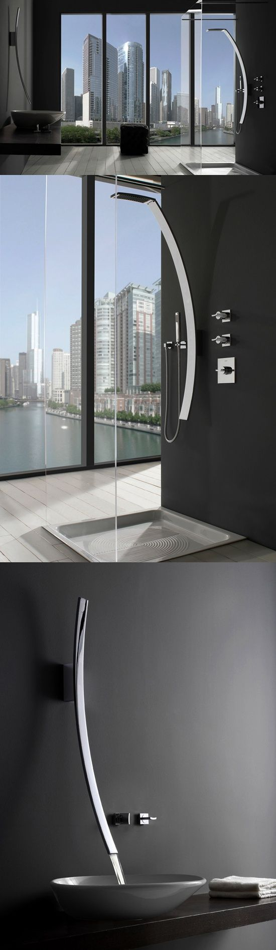 masculine u0026 elegance the lunar effect on faucets bathroom interior design from http - Faucetscom
