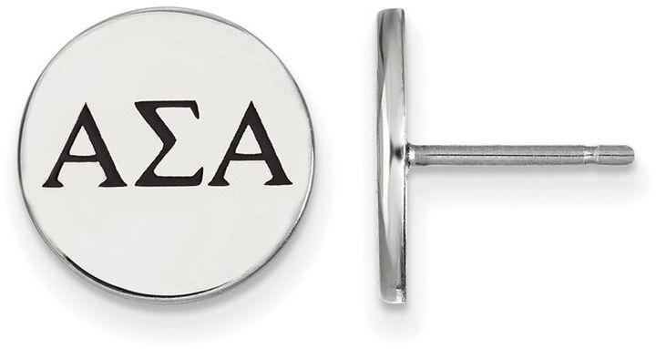 Zales Pink Enamel Delta Gamma Sorority Stud Earrings in Sterling Silver yPmevbzk7O