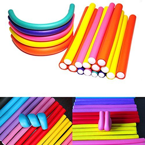 Longqi Beauty Spiral Hair Foam Curler Roller SetTwist Curls Flex RodsPack of 30 Hairstyle Foam Curler Tool (30pieces)