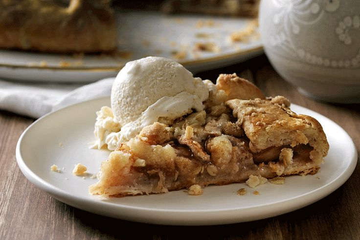 Flaky Apple Galette with Oat Streusel