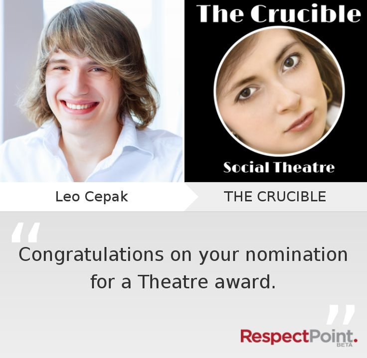 Click through to see what Leo Cepak had to say about THE CRUCIBLE on RespectPoint.com.