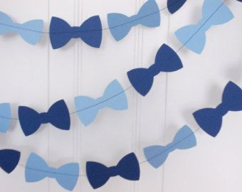 BOWTIE Baby Shower Garland, Itu0027s A Boy Party Decorations, Mustache Bow Tie  Garland, Lime Green Baby Blue Garland, Bowtie Party Decor