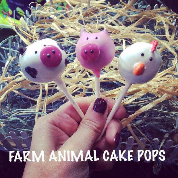 Farm animal cake pops. Cute birthday idea!