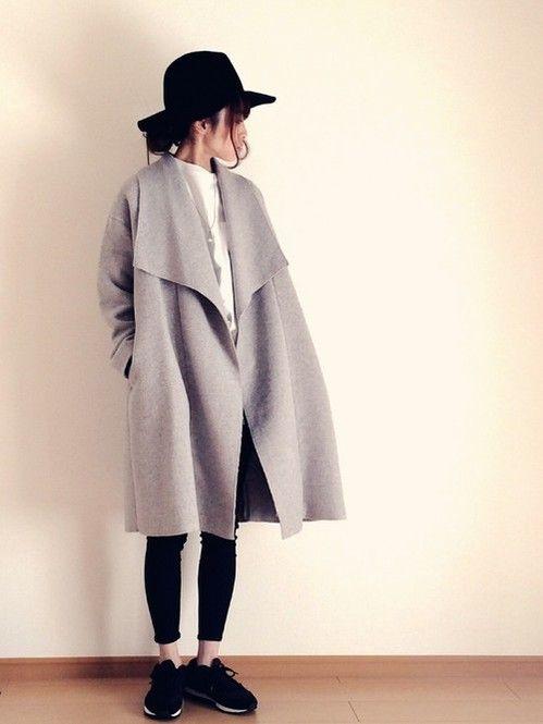 アイテム使いでオシャレ度アップ!秋冬のファッションアイテム おしゃれガウンコート コーデを集めました♪