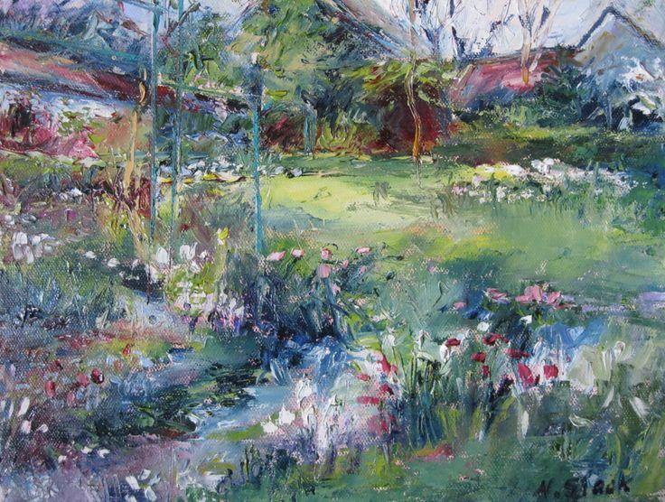 """Spring Flowers, Monet's Garden"" 12 x 10 inches www.niamhslack.com"
