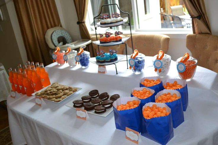 blue + orange Birthday Party Ideas | Photo 5 of 12 | Catch My Party