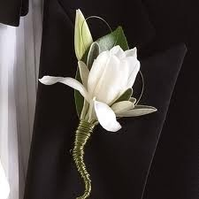 like the white gardenia and grass- remember to use green wire