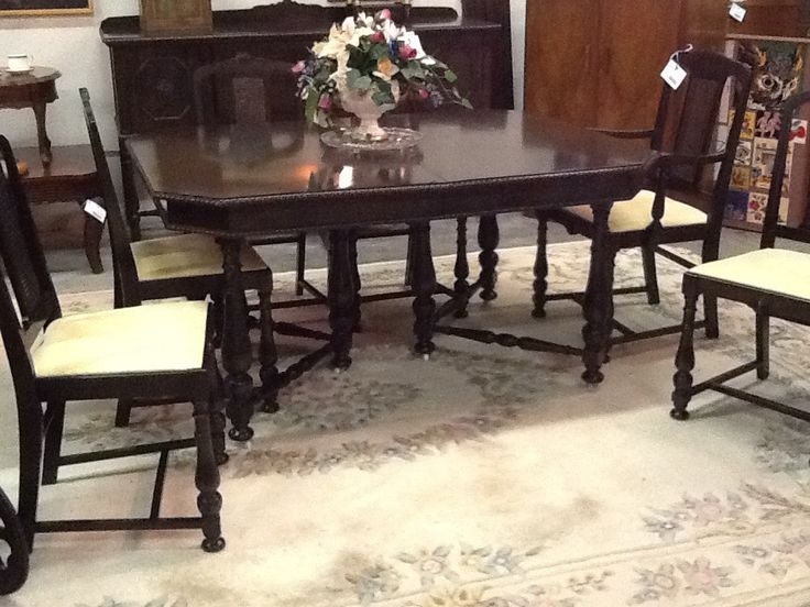 Black Walnut Dining Table & Chairs | The Millionaire's Daughter