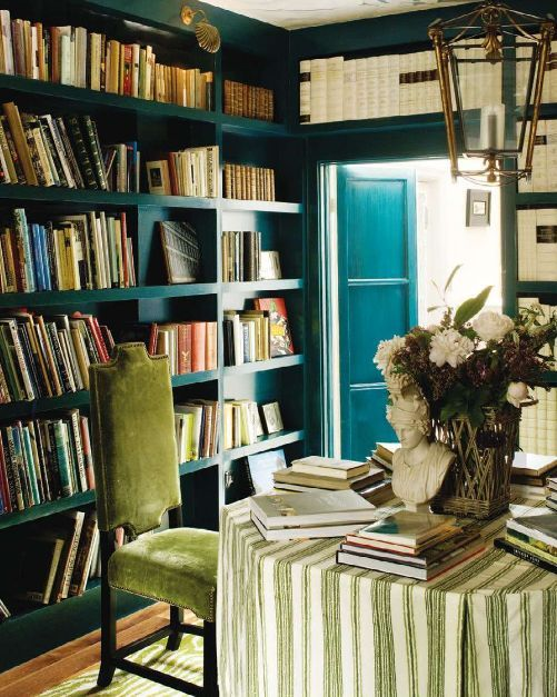 bookcasesBookshelves, Libraries Room, Dining Room, Home Libraries, Colors, Green, Bookcas, Teal, House