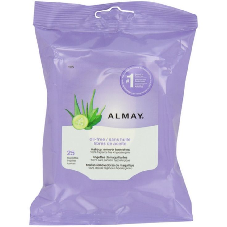 Almay Makeup Remover Towelettes Oil-Free 25 ea