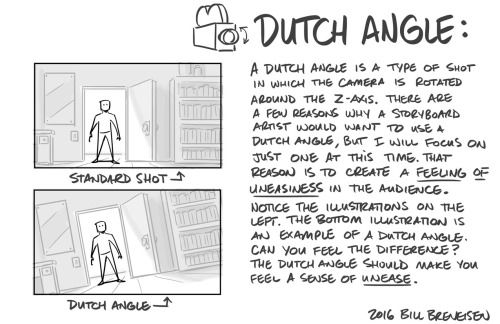 Quick post on Dutch Angles.