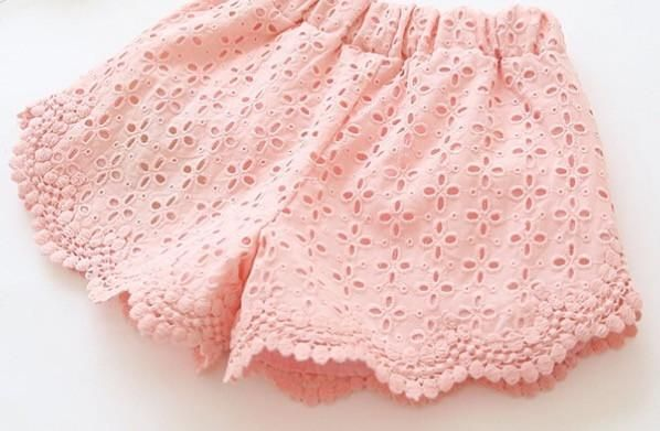 Eliose Eyelet Shorts - Pink