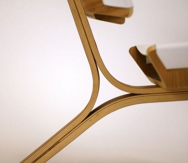 Detail Of A Molded Plywood Chair