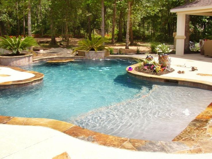 Cool 48 Stunning Backyard Beach Pool Design Ideas https://homearchite.com/2017/06/20/48-stunning-backyard-beach-pool-design-ideas/ #homeimprovement.com,