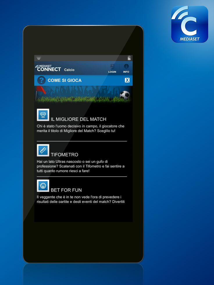 Interagite con il grande #calcio in #SecondScreen: basta accedere a #MediasetConnect per mettere in campo le vostre consocenze e la vostra passione! #app #smartphone