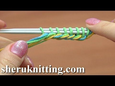 Knit Thick Cast On Edge Tutorial 1 Method 15 of 18 Knitting Cast-On - YouTube