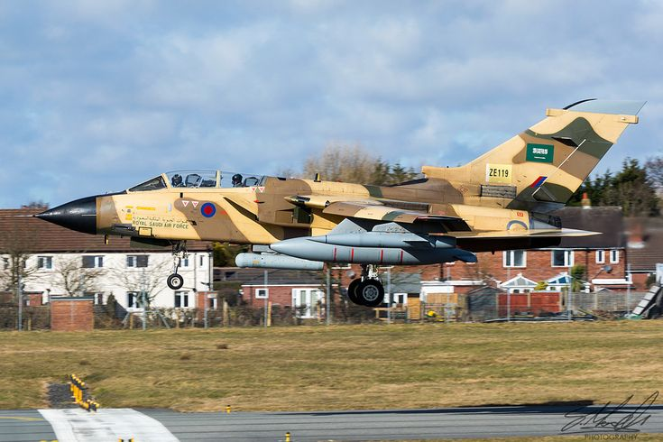 https://flic.kr/p/GTZmsw   Royal Saudi Air Force Tornado IDS   'Tarnish 9' Arriving back at Warton after a test flight. Flying with test registration ZE119 however will be returned to the RSAF as registration '760'.  Royal Saudi Air Force Panavia Tornado IDS ZE119 BAE Systems Warton, England 8th March 2018