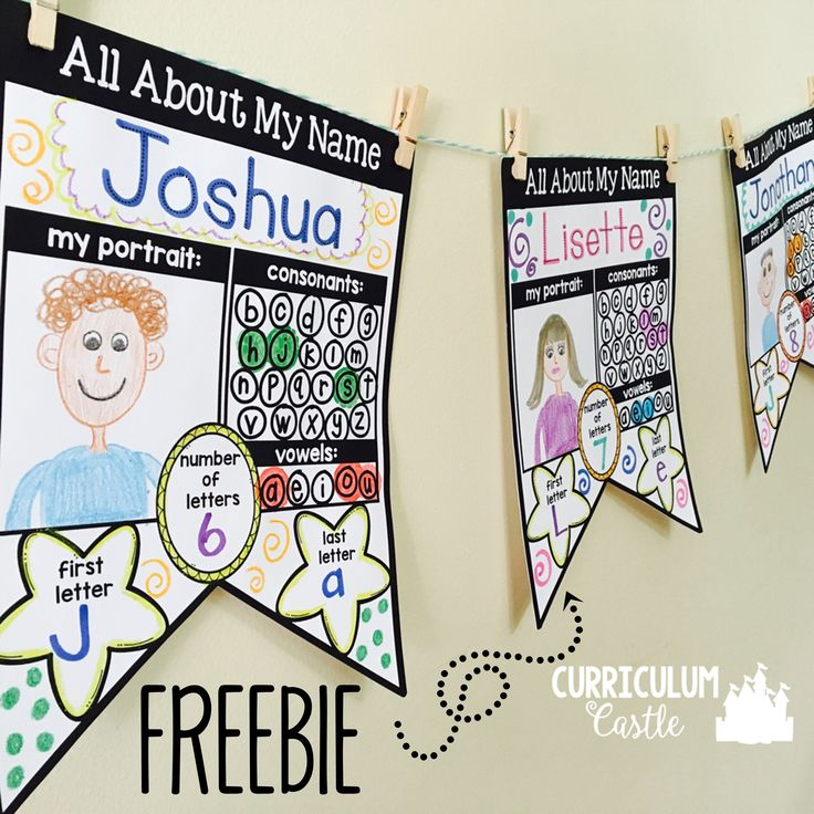 FREE editable All About My Name banners! Perfect name activity to display during back to school and open house.
