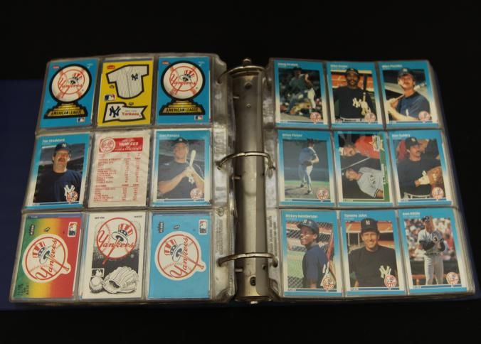 "Yankees baseball cards incl ""Derek Jeter Rookie class"", ""Rich Gossage"", ""Charlie Hayes"", ""Pat Kelly"", ""Paul O'Neil"", ""Melido Perez"", ""John Wetteland"", ""Bernie Williams"", ""Neil Allen"", ""Randy Velarde"", ""Brian Buchanan"", ""Pascual Perez"", ""Doyle Alexander"", ""Dwight Gooden"", ""Don Mattingly"", ""Willie Randolph"", ""Rick Rhoden"", ""Mike Pagliarulo"", ""Dave Righetti"", etc. approx 2,000 cards total."