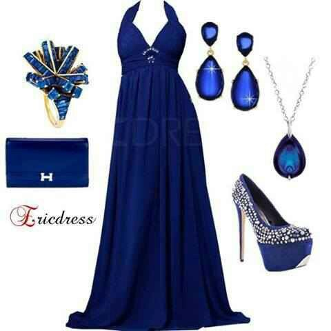 Blue Accessories Dress