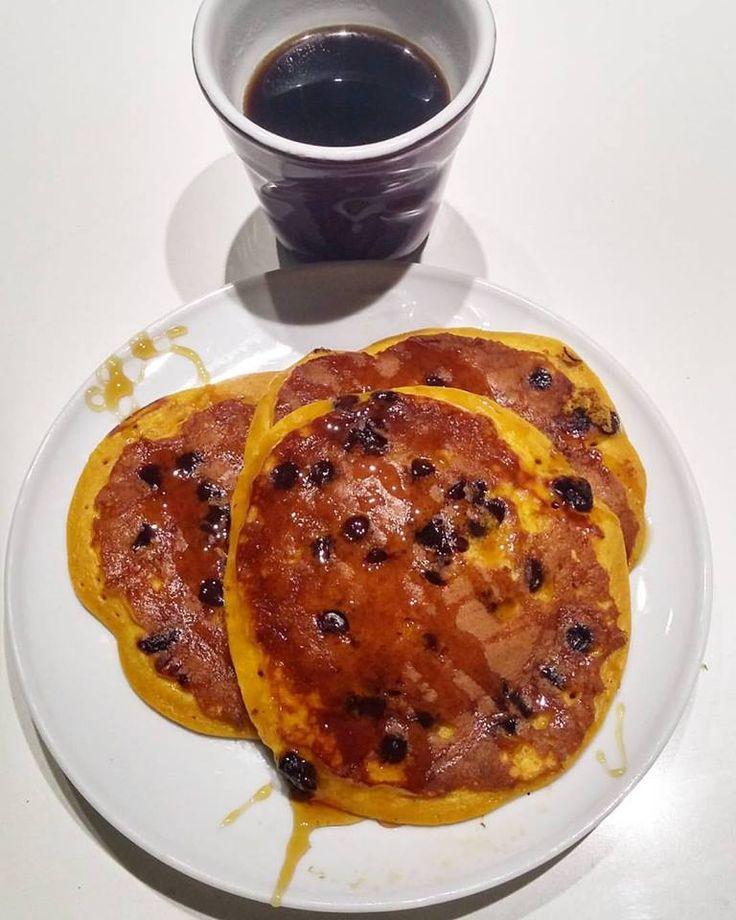 Pancakes speziati alla zucca e cioccolato